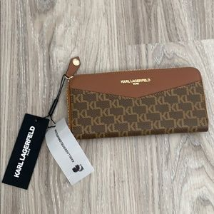 Karl Lagerfeld Leather Wallet. Brand new. Brown